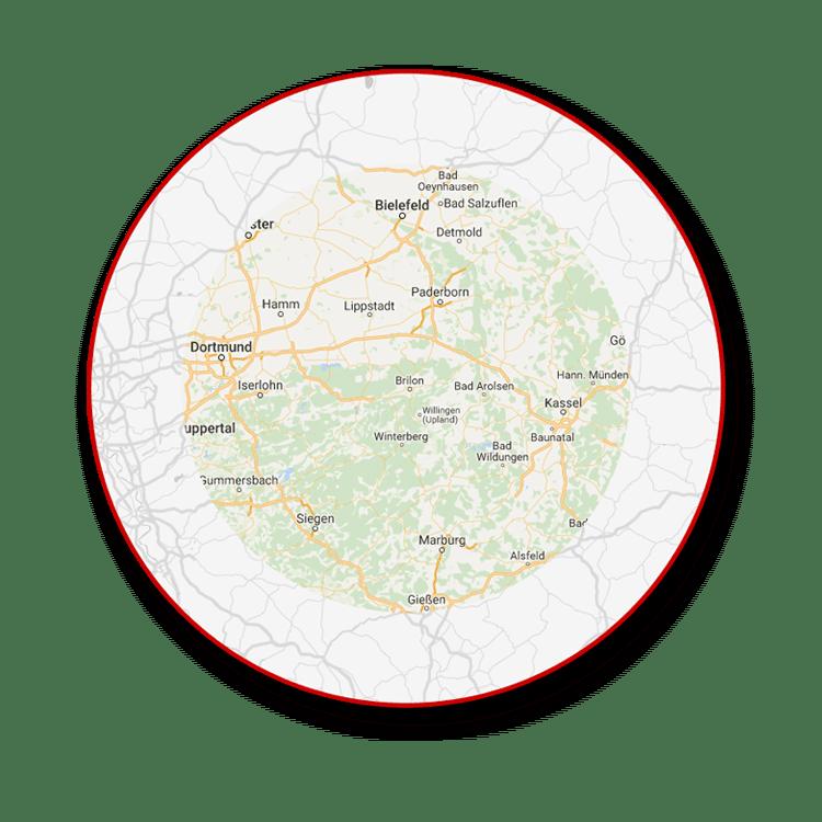 arbeitsumkreis google maps