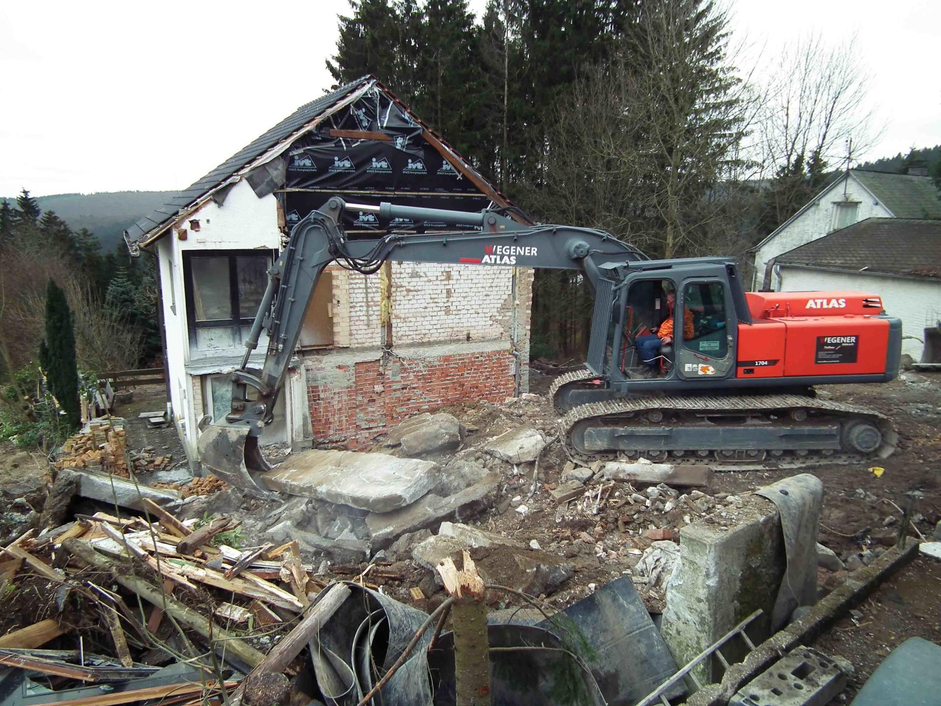 Wohnhaus-Teilabbruch in Winterberg