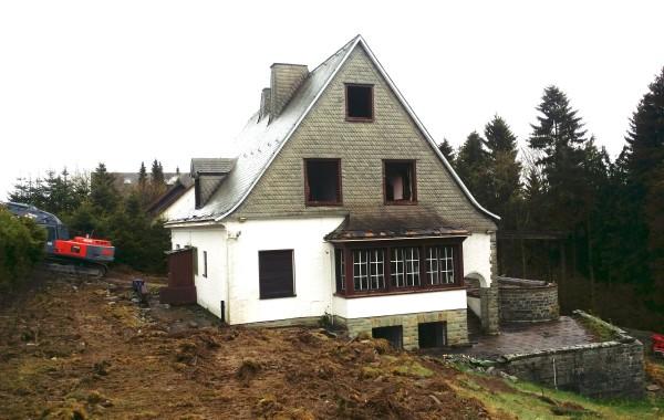 """Abbruch """"Alte Villa"""" Winterberg (MIT VIDEO)"""