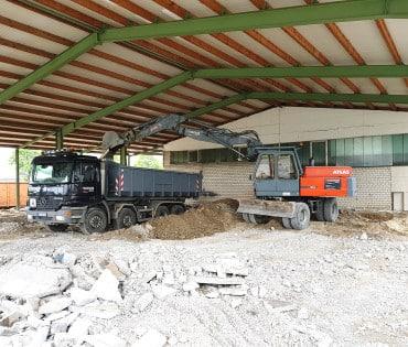 Betonaufbruch Industriehalle – Brilon