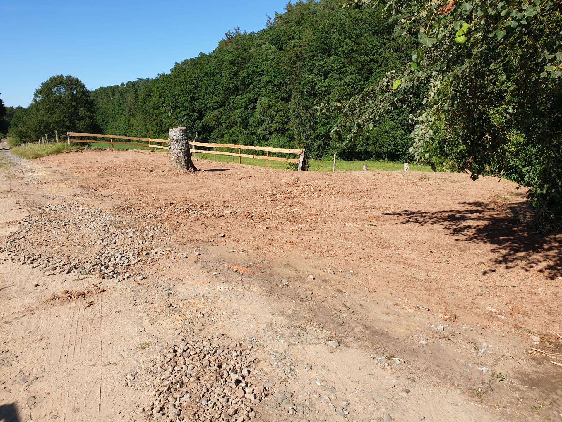 Einbau von RCL-Material für eine neue Parkfläche